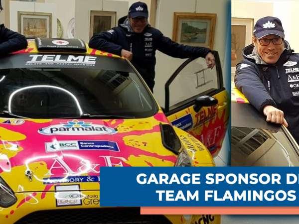 GARAGE sponsor del team FLAMINGOS al rally di Monza